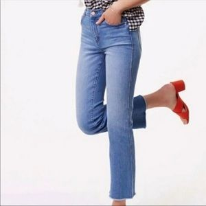 Loft Outlet High Rise Straight Cropped Jeans